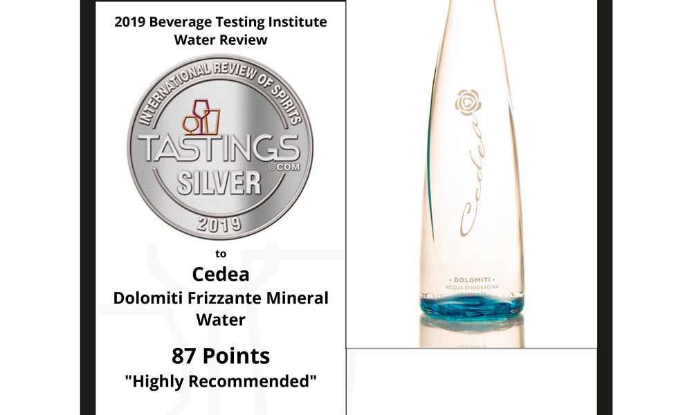 cedea mineral water Tastings winner