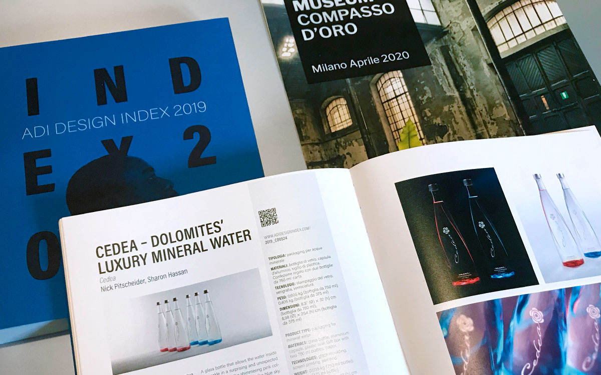 Acqua Cedea mineral water nominated for the Compasso d'Oro award 2020