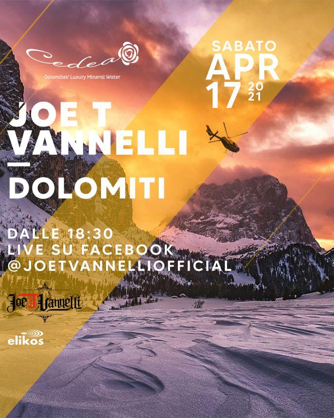 Cedea sponsors Joe T Vannelli in his Dolomites show