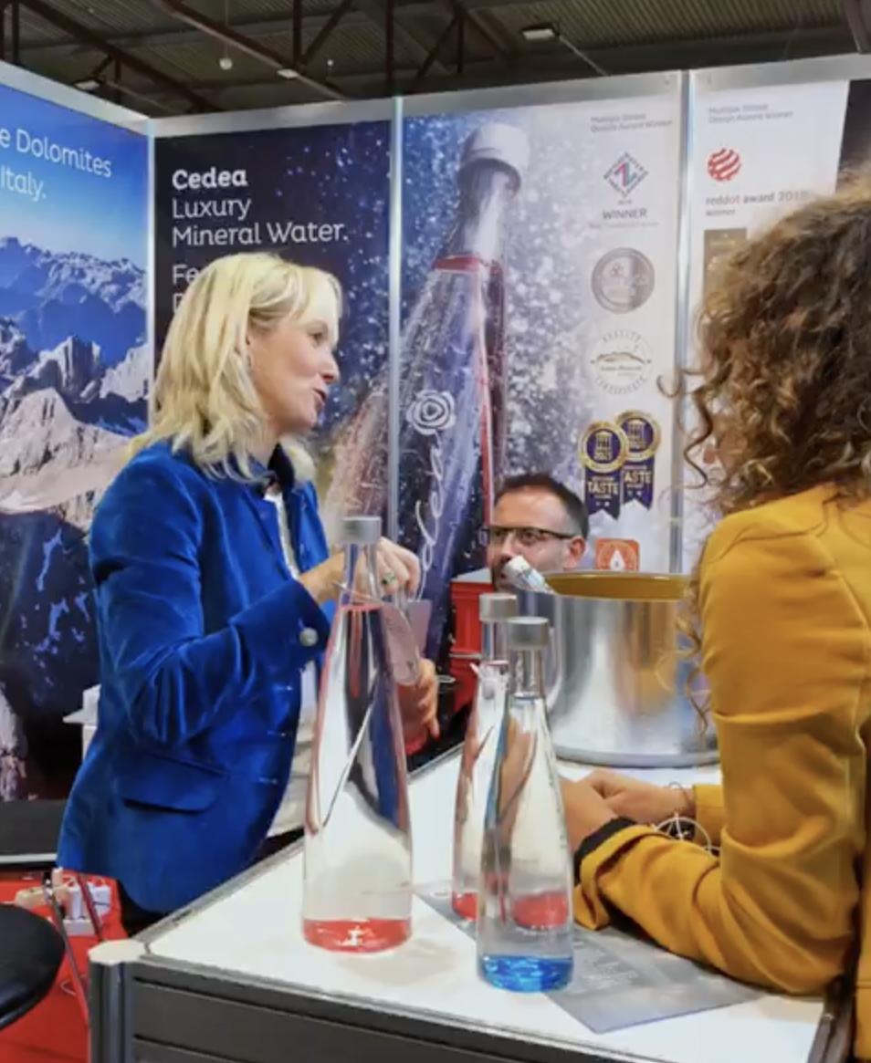 Cedea water at the Bellavita Expo in Riga, Latvia